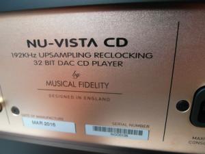 Musical Fidelity Nu-Vista CD to odtwarzacz 32-bitowy