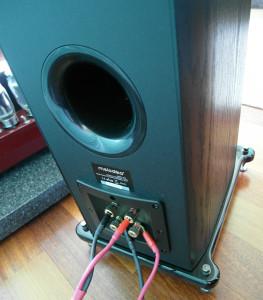 Duży port bas refleks i podwójne terminale głośnikowe