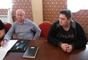Marek Dutkiewicz z Tonsilu i Piotr Walendowski, organizator spotkania