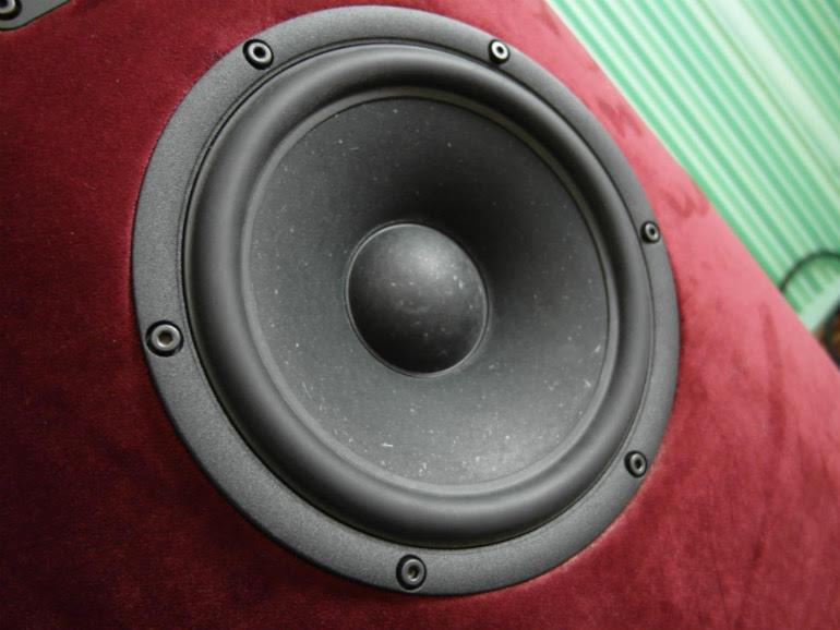 Niskie tony i część średnicy przetwarza głośnik SB Acoustics
