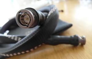 Test Lampizator Silver Shadow Coaxial. Kabel wygląda niepozornie, jest umiarkowanie sztywny (fot. wstereo.pl)