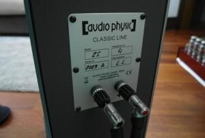 Audio Physic Classic 25 - test. Pojedyncze gniazda od WBT (fot. wstereo.pl)