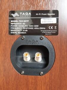 Taga Harmony TAV-607F - test.. Pojedyncze terminale głośnikowe (fot. wstereo.pl)